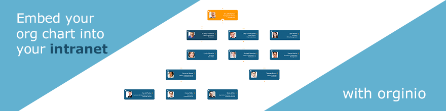 Embed your org chart into the intranet with orginio
