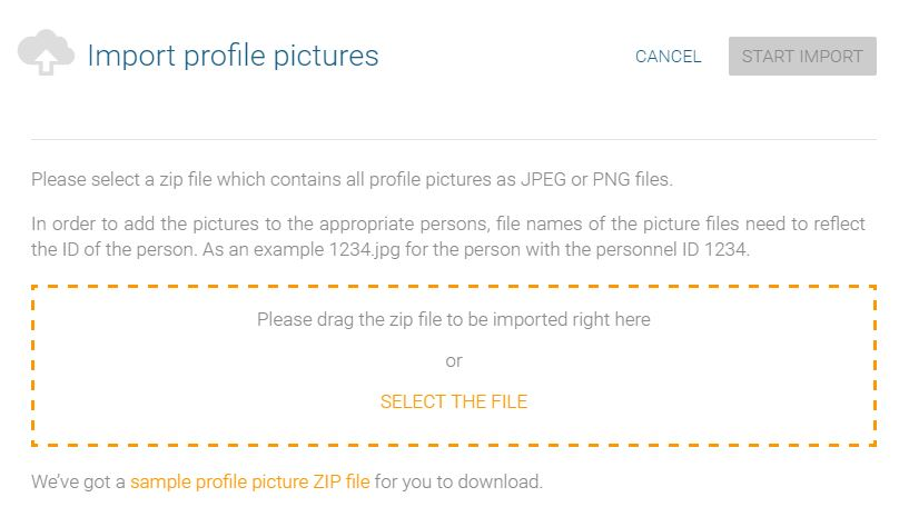 Import profile pictures collectively into your org chart with orginio