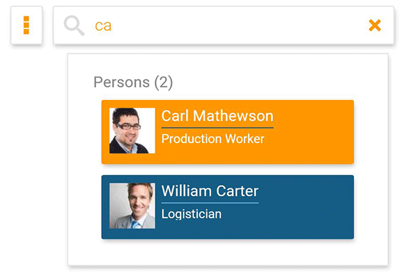 Find colleagues in online org chart with orginio