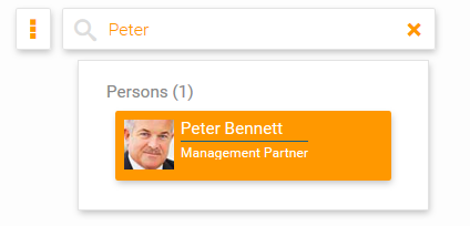 Search for a colleague in your org chart in orginio