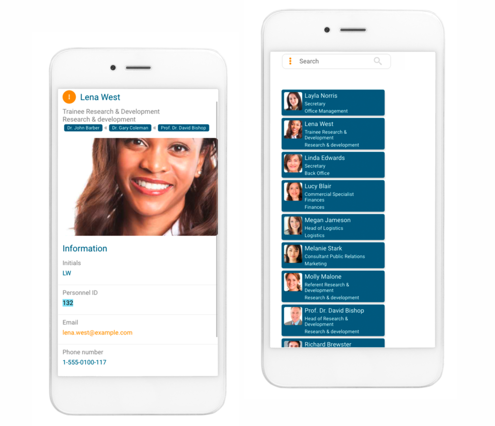 orginio lets you access your online org chart on any mobile device