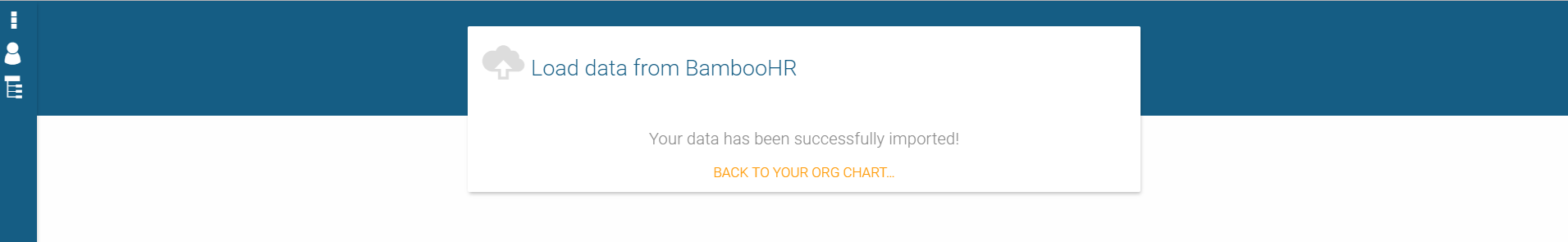 How to import data from Bamboo HR to orginio