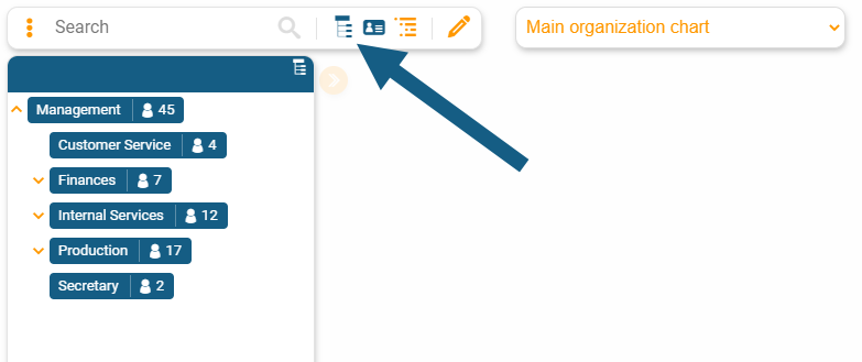 Open the hierarchy tree of your org chart in orginio